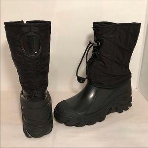 Stuart Weitzman Black Snow Rain Boots Sz M 6.5-7.5